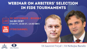 ARB Webinar on the selection of Arbiters in FIDE Events